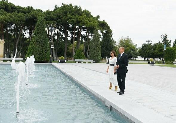 """Bulvarda """"Qu quşları"""" fəvvarə kompleksi açıldı - FOTO, fotoşəkil-9"""