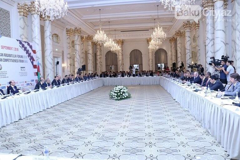 """Bakıda """"Azərbaycan Rəqabətlilik Forumu 2018"""" keçirilib, fotoşəkil-6"""
