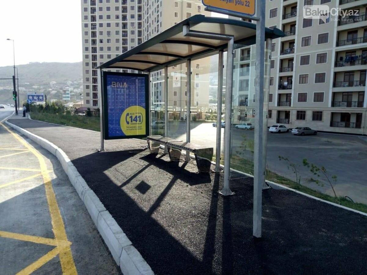 """Bakının ilk """"Cib"""" tipli avtobus dayanacağı - Foto, fotoşəkil-4"""
