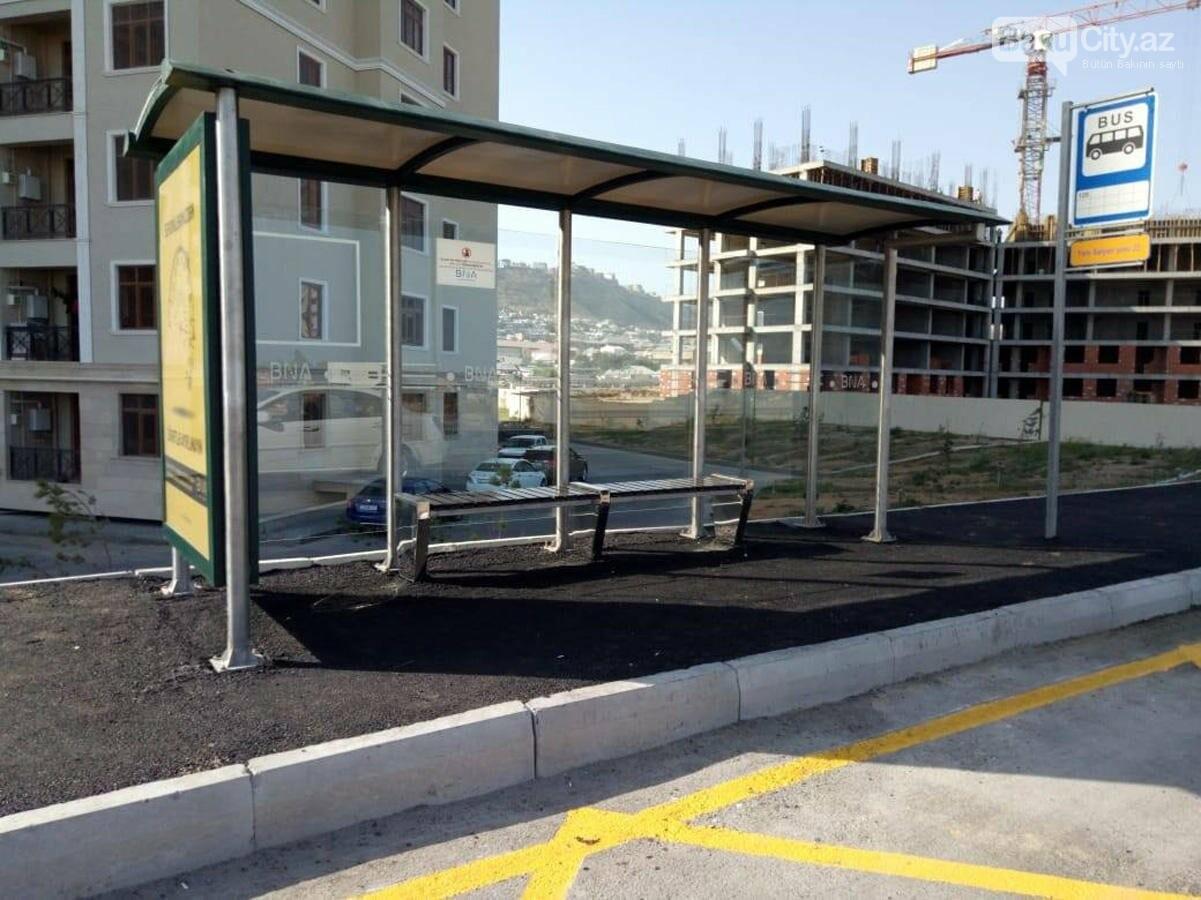 """Bakının ilk """"Cib"""" tipli avtobus dayanacağı - Foto, fotoşəkil-3"""