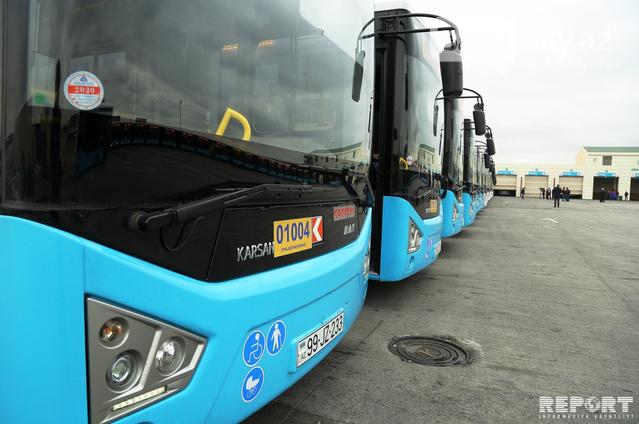Bakıya gətirilən yeni sərnişin avtobusları təqdim edildi - FOTO , fotoşəkil-4
