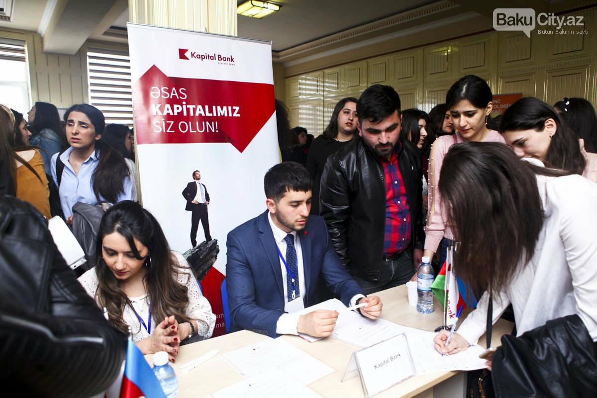 Bakı Dövlət Universitetində əmək yarmarkası keçirildi - FOTO, fotoşəkil-1