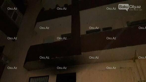 Bakıda 16 mərtəbəli binada yanğın baş verdi - FOTO, fotoşəkil-1