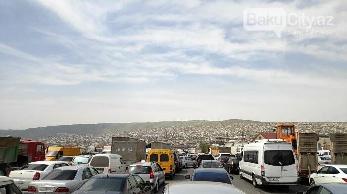 Bakının şimal çıxışında uzun tıxac yaranıb - FOTO, fotoşəkil-3