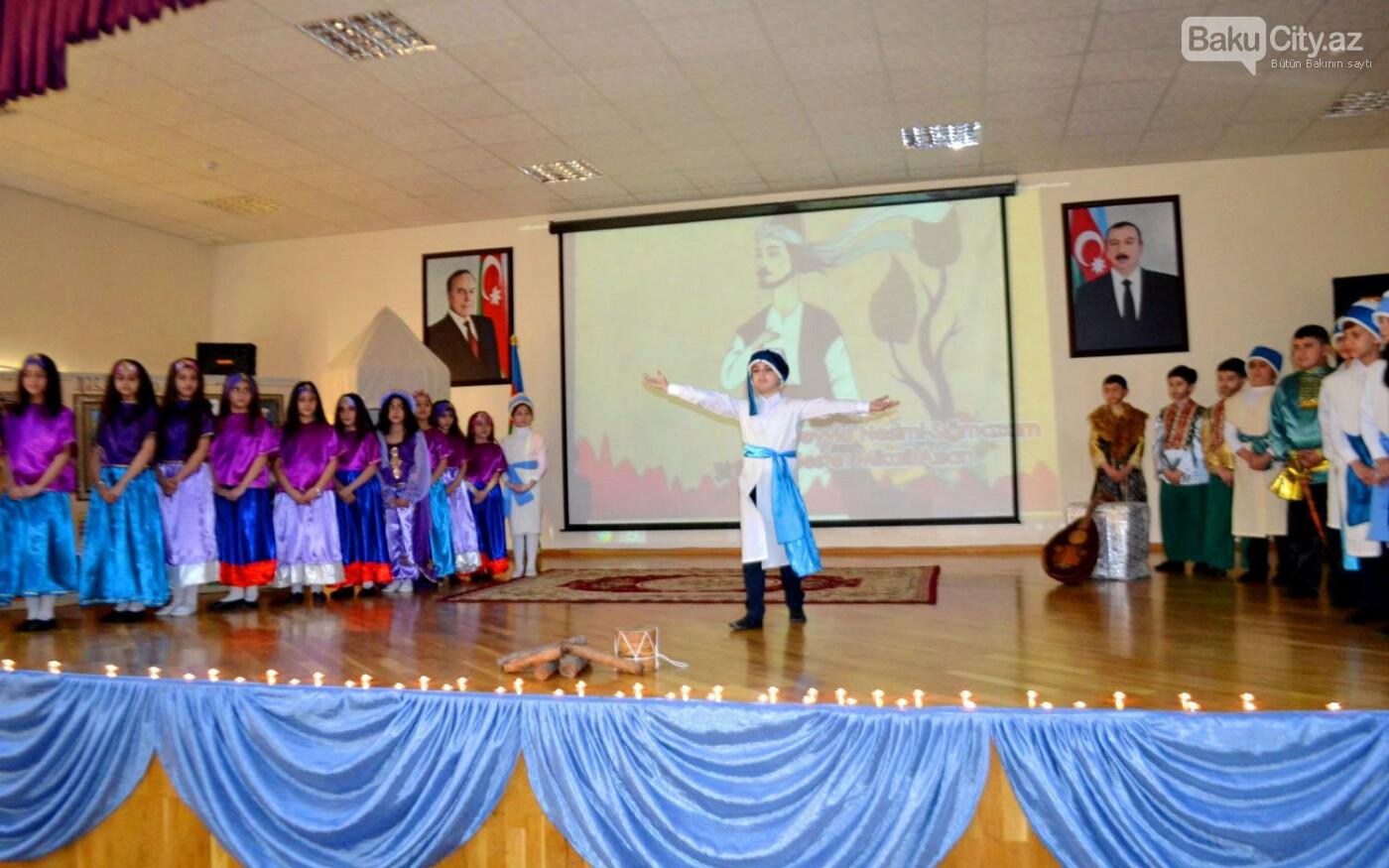 Bakı məktəblərində Nəsiminin 650 illik yubiley tədbirləri - FOTO, fotoşəkil-1