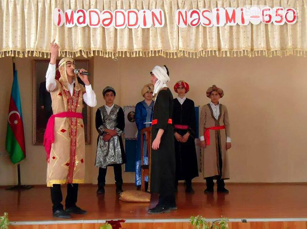 Bakı məktəblərində Nəsiminin 650 illik yubiley tədbirləri - FOTO, fotoşəkil-4