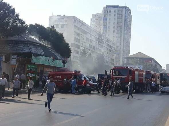 Bakıda daha bir məşhur mağaza yandı - FOTO, fotoşəkil-1