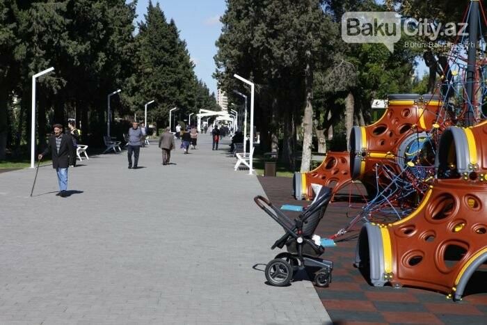 Bakının yenilənən Atatürk prospekti: Mərkəzdə istirahət üçün ideal məkan - FOTOREPORTAJ, fotoşəkil-12