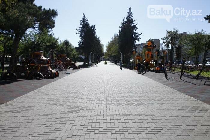 Bakının yenilənən Atatürk prospekti: Mərkəzdə istirahət üçün ideal məkan - FOTOREPORTAJ, fotoşəkil-7