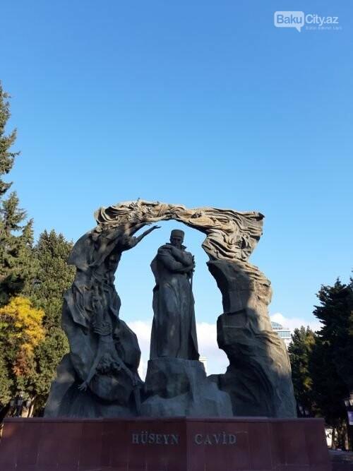 Hüseyn Cavidin heykəli: Ana və İblis, qızılgüllərə sevgi - FOTO, fotoşəkil-3