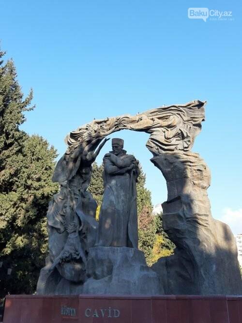 Hüseyn Cavidin heykəli: Ana və İblis, qızılgüllərə sevgi - FOTO, fotoşəkil-4