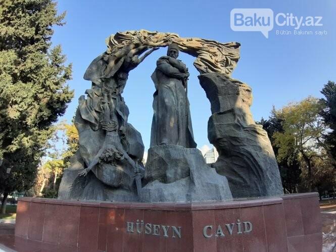 Hüseyn Cavidin heykəli: Ana və İblis, qızılgüllərə sevgi - FOTO, fotoşəkil-5