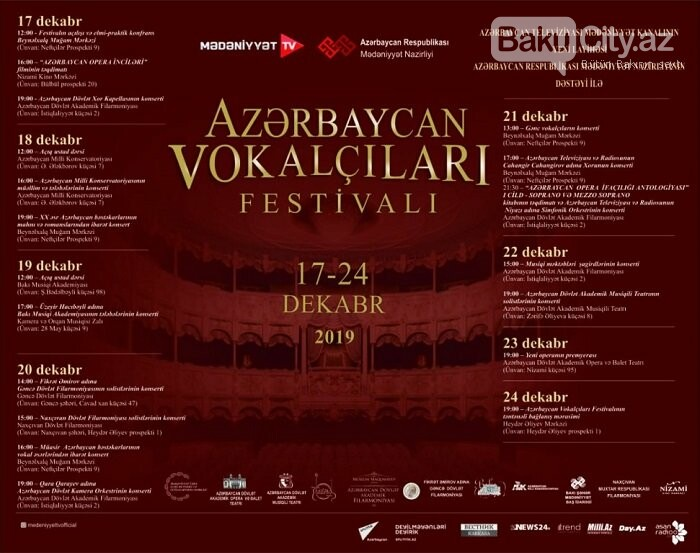Bakıda klassik vokalçıların festivalı keçiriləcək, fotoşəkil-1