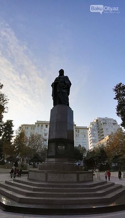 Nizami Gəncəvinin heykəli: yubiley abidəsi, müharibədən əvvəlki layihə - FOTO, fotoşəkil-1