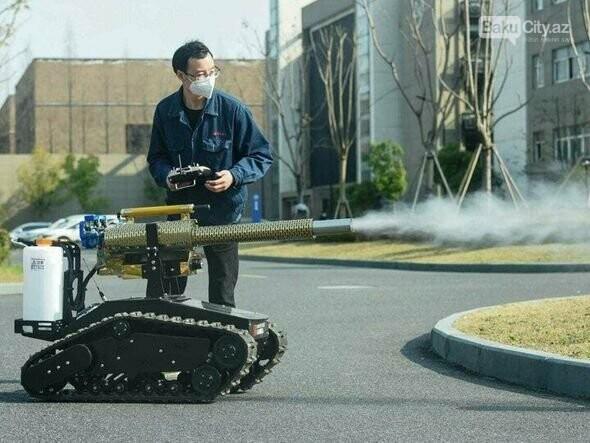 Koronavirusla mübarizə üçün robot yaradıldı - FOTO, fotoşəkil-4