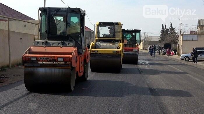 Bakının bu ərazilərində 17,9 kilometr yol təmir edilir - FOTO, fotoşəkil-5
