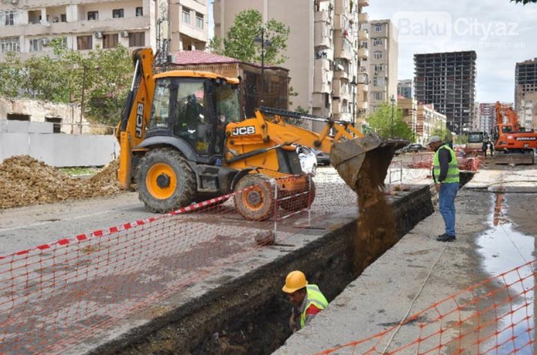 Bakının bu rayonunda yeni magistral su kəməri çəkilir - FOTO, fotoşəkil-4
