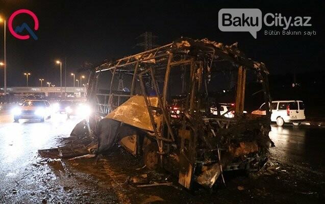 Aeroport yolunda avtobus partladı - FOTO / VİDEO, fotoşəkil-1