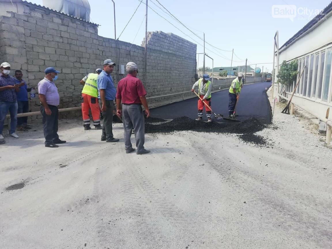 Suraxanıda yolların yenilənməsi işlər davam etdirilir - FOTO, fotoşəkil-3