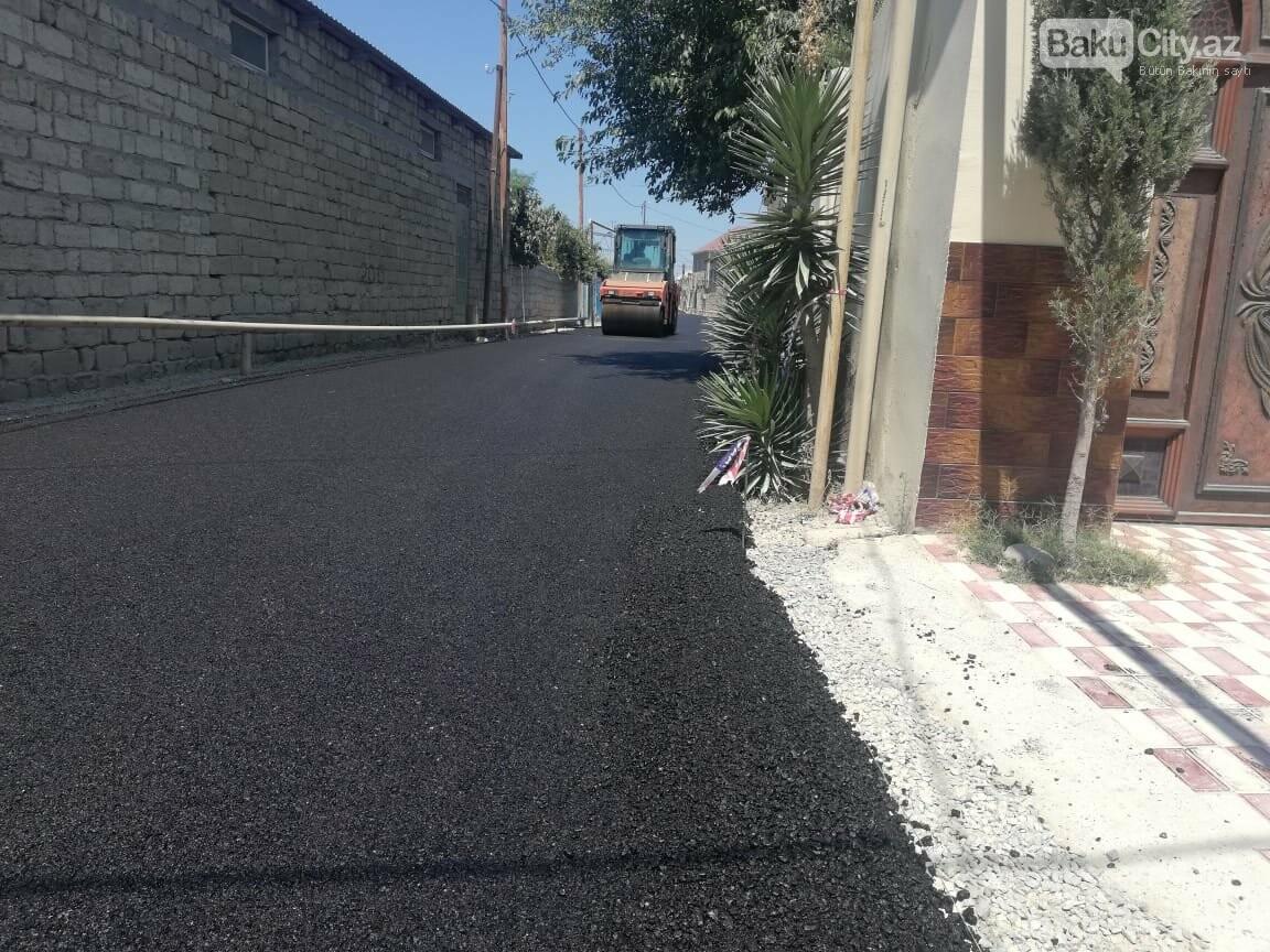 Suraxanıda yolların yenilənməsi işlər davam etdirilir - FOTO, fotoşəkil-4
