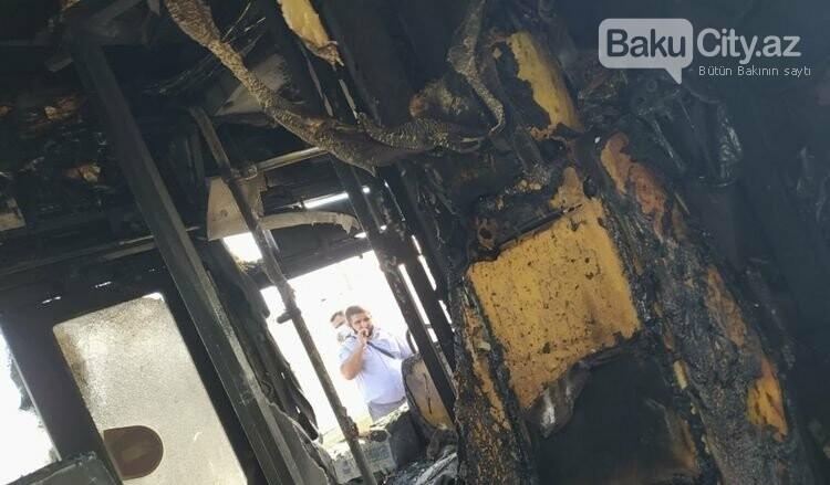 Bakıda sərnişin  avtobusu yandı - FOTO / VİDEO, fotoşəkil-3