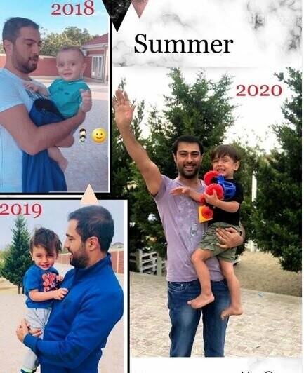 Namiq Qaraçuxurlunun heç kimin görmədiyi oğlu ilə FOTOSU, fotoşəkil-1