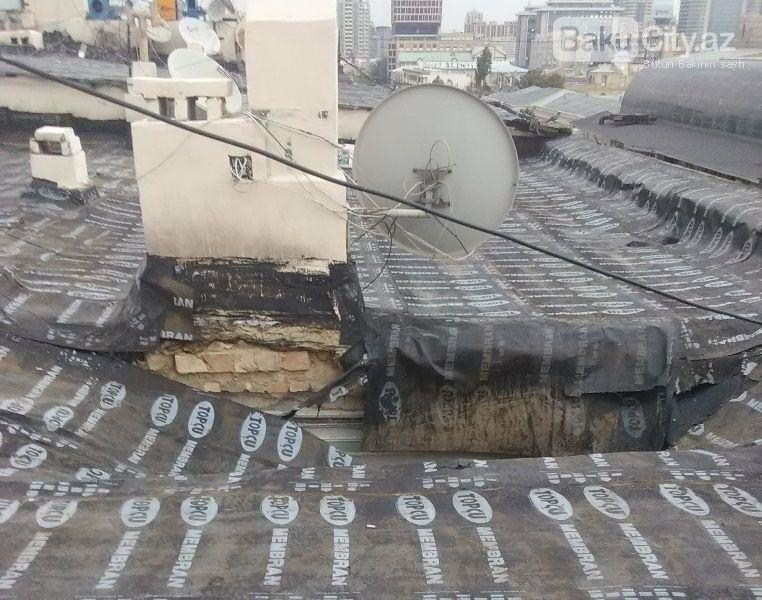 Bakının mərkəzində bina uçub: sakinlər təhlükədədir - FOTO, fotoşəkil-1