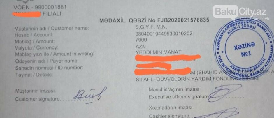 Şəhid Anası da orduya ianə etdi: 7000 manat - FOTO, fotoşəkil-1