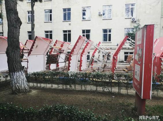 Bakı Dövlət Universitetinin məşhur çayxanası söküldü - FOTO, fotoşəkil-1