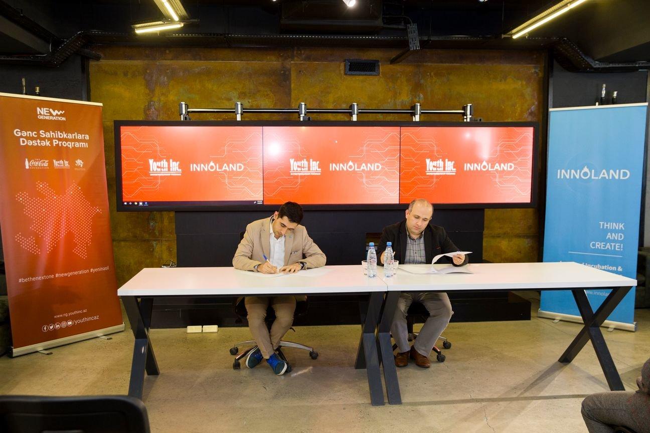 """Bakıda """"Youth Inc."""" və """"INNOLAND"""" arasında memorandum imzalandı - FOTO, fotoşəkil-1"""