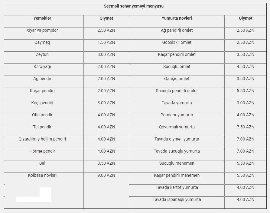 Bakıda ən dadlı səhər yeməyi verilən məkanlar - QİYMƏT / MENYU, fotoşəkil-2