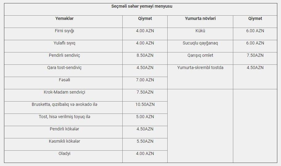 Bakıda ən dadlı səhər yeməyi verilən məkanlar - QİYMƏT / MENYU, fotoşəkil-4
