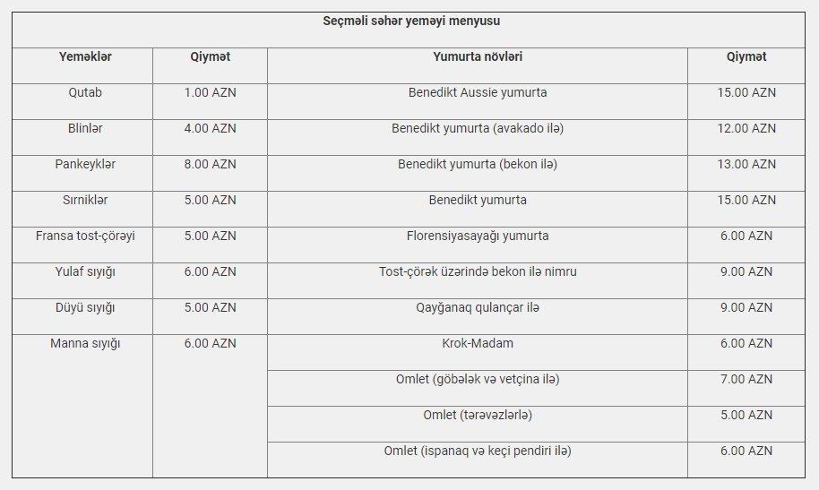 Bakıda ən dadlı səhər yeməyi verilən məkanlar - QİYMƏT / MENYU, fotoşəkil-5