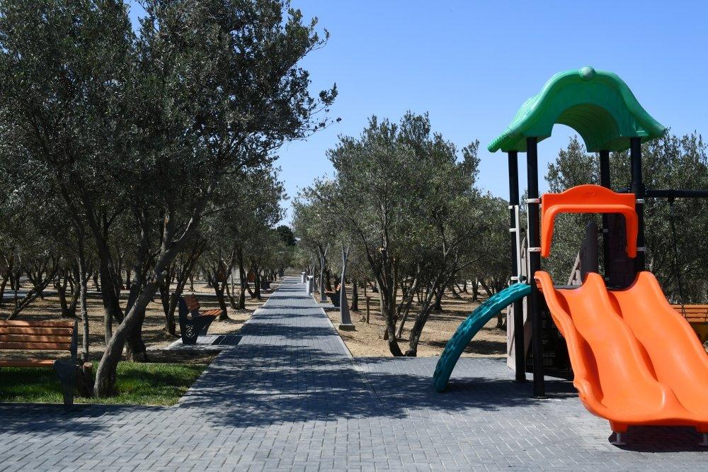 Mehriban Əliyeva Bakıda yeni yaradılan istirahət parkında - FOTO, fotoşəkil-7