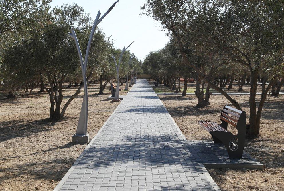 Mehriban Əliyeva Bakıda yeni yaradılan istirahət parkında - FOTO, fotoşəkil-8