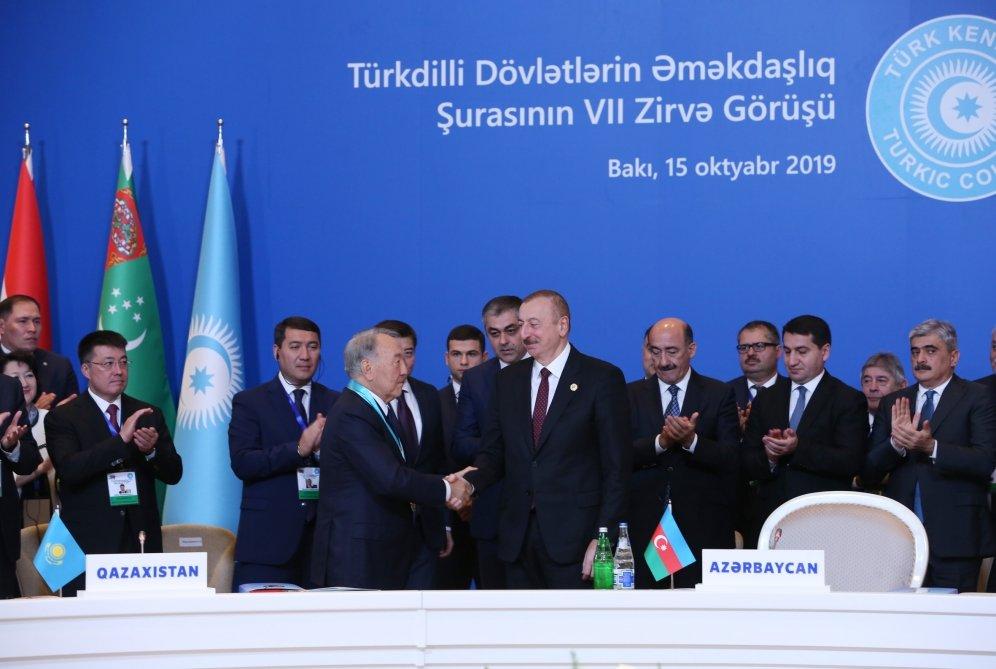 Bakıda Nazarbayevə orden verildi - FOTO, fotoşəkil-3