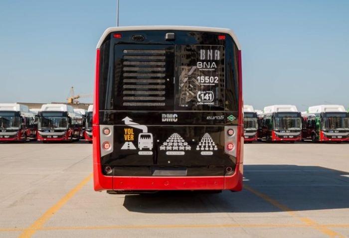 Bakıya 12 metrlik avtobuslar gətirildi - FOTO, fotoşəkil-3