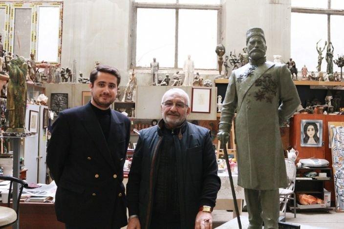Tağıyevin kötükcəsi Bakıda ulu babasının heykəlini hazırlayan heykəltəraşla görüşüb - FOTO, fotoşəkil-2