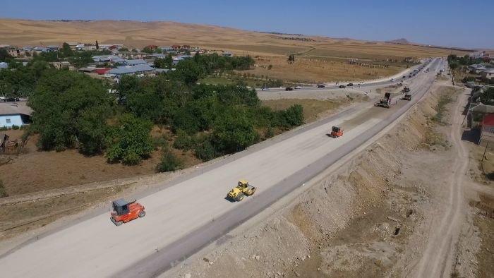 Bakı-Şamaxı yolunun genişləndirilməsi işləri yekunlaşır - FOTO, fotoşəkil-14