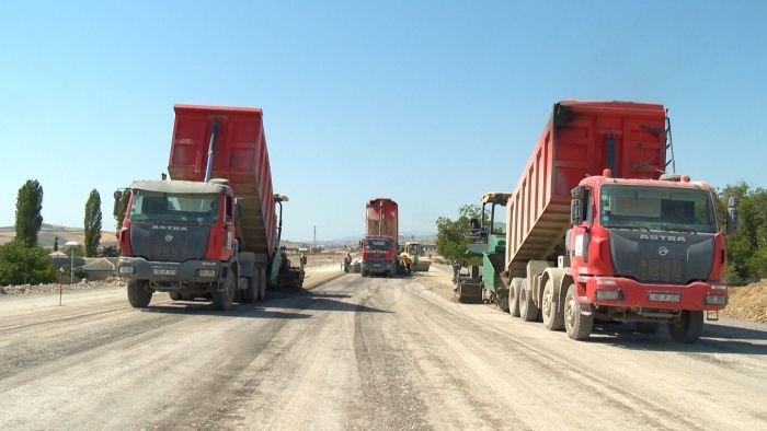 Bakı-Şamaxı yolunun genişləndirilməsi işləri yekunlaşır - FOTO, fotoşəkil-18