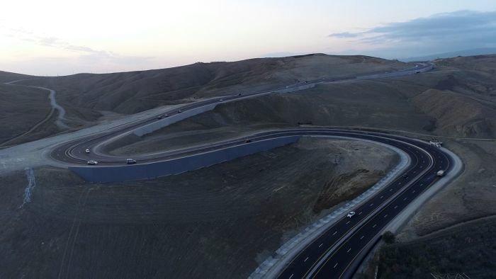 Bakı-Şamaxı yolunun genişləndirilməsi işləri yekunlaşır - FOTO, fotoşəkil-5