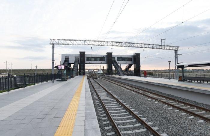 Bakıda yeni dəmir yolu stansiyası - FOTO, fotoşəkil-7