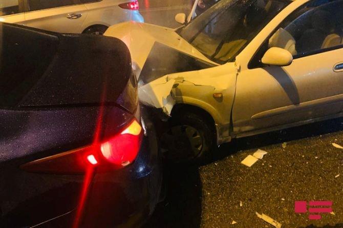Bakıda 7 avtomobil bir-birinə dəydi: yaralılar var - FOTO + VİDEO, fotoşəkil-5