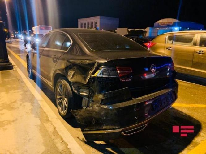 Bakıda qadın sürücünün səhvi: 4 avtomobil toqquşdu - FOTO + VİDEO, fotoşəkil-6