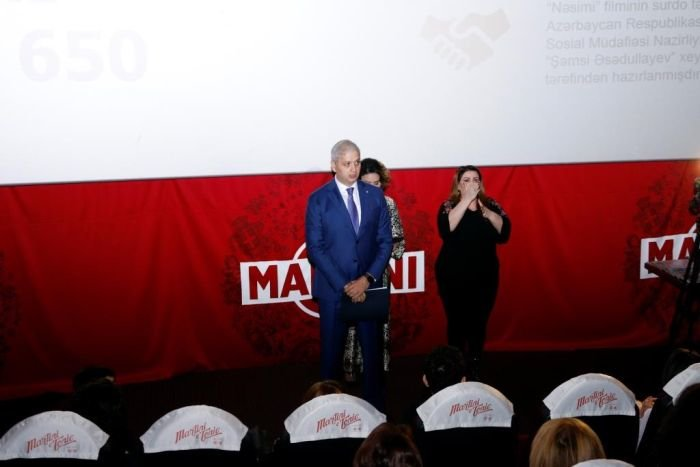 """Bakıda eşitmə və nitq qabiliyyəti olmayanlar üçün """"Nəsimi"""" filmi - FOTO, fotoşəkil-2"""