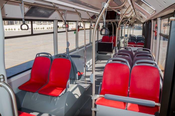 Bakıda 12 metrlik avtobuslar sabahdan istifadəyə verilir - FOTO, fotoşəkil-4