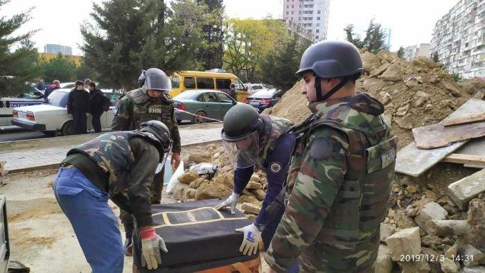 Bakıda binanın zirzəmisində top mərmisi tapıldı - FOTO , fotoşəkil-2