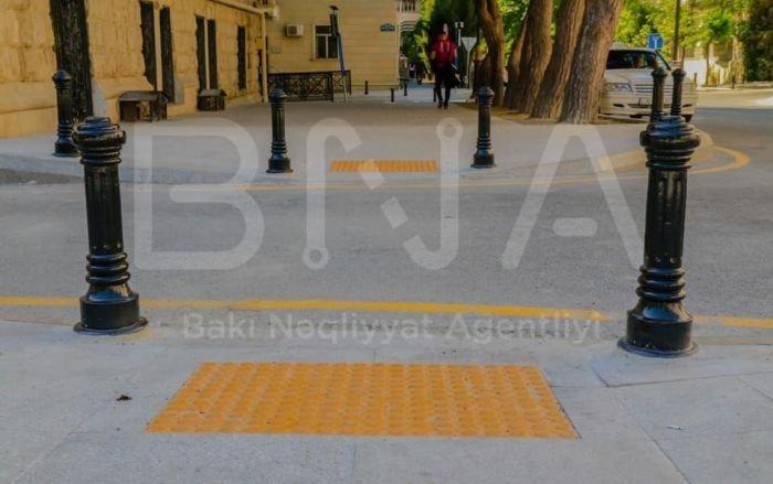 Bakıda səkilər boyunca taktil döşəmələri artır - FOTO, fotoşəkil-6