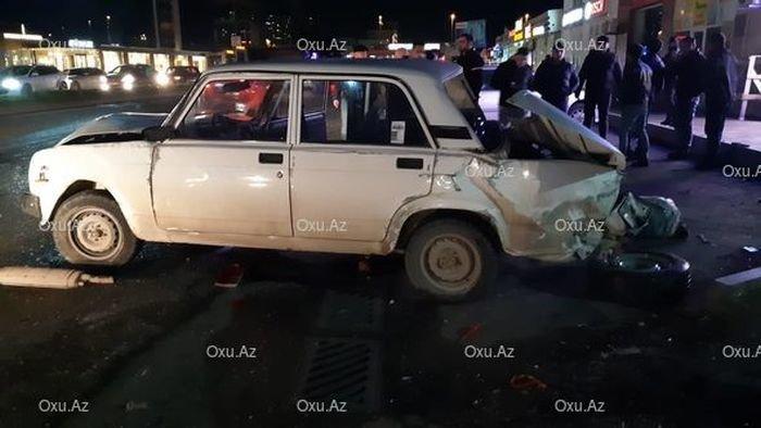 Bakıda VAZ-ın səhvindən zəncirvari qəza baş verdi - FOTO + VİDEO, fotoşəkil-5