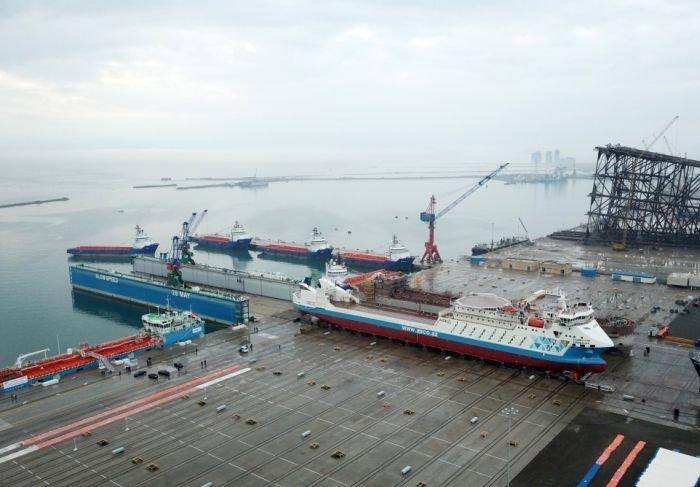 Bakı gəmiqayırma zavodunda inşa olunmuş ilk tanker istismara verildi - FOTO, fotoşəkil-6